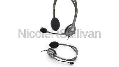LOGITECH STEREO HEADSET H111 Headphones w/ Boom Microphone & Noise