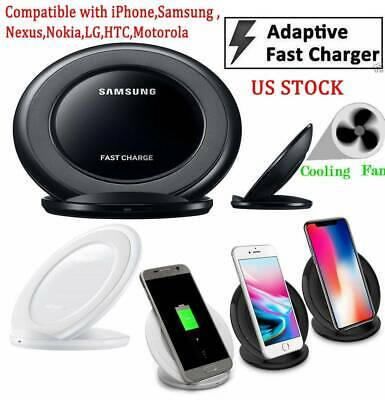 OEM Samsung Fast Charger Wireless Qi Charging STAND Pad For①Samsung②Iphone③LG