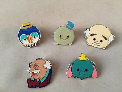 Disney Trading Pins Official Tsum Tsum Theme Lot of 5 Collectible