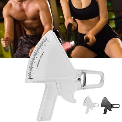 1pc Body Fat Caliper & Mass Measuring Tape Tester Skinfold Fitness Weight Loss