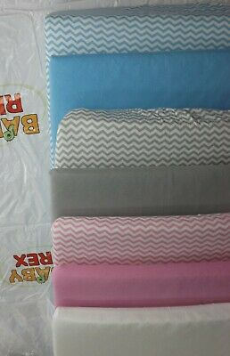 2 x Baby Crib Fitted Sheets to fit Tutti Bambini Cozee Crib - 100% Cotton