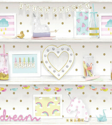 Girls Life Wallpaper - Unicorns Rainbows Polkadots