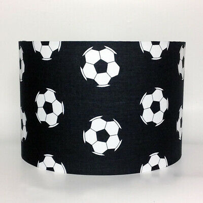 Black Football, Large Fabric Light Shade