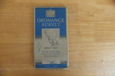 Ordnance Survey Map-Scale-1:25,000 Map Of Great Britain-1946 Edition-Sheet-34/19