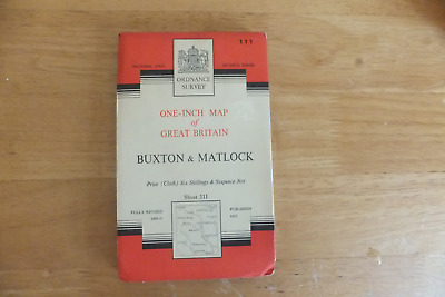 Ordnance Survey Map-One-Inch Of Great Britain-7Th Series-Cloth Editionssheet-111