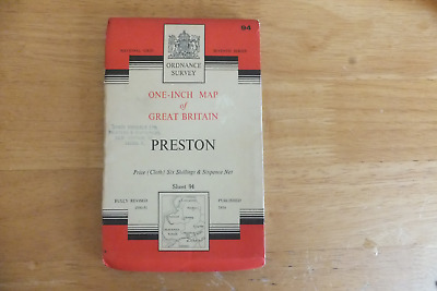 Ordnance Survey Map-One-Inch Of Great Britain-7Th Series-Cloth Editions-Sheet 94