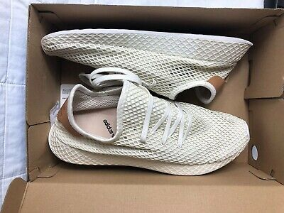 NEW MENS ADIDAS WHITE MULTI DEERUPT RUNNER NYLON Sneakers