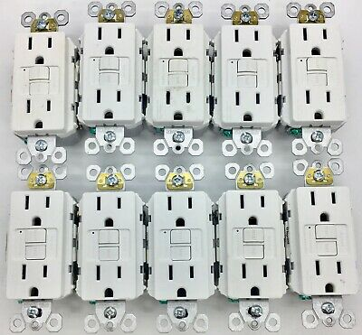 LOT OF 10 Pass Seymour 1597TRW GFCI Receptacle Tamper Resist15A WHITE FREE SHIP
