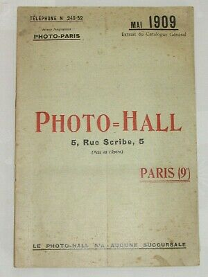 04F59 Rare Antique Extract of the General Catalogue Camera Photo - Hall May 1909