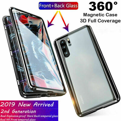 For Samsung Galaxy S8 S8+ S9 S10 S10+ Magnetic Absorption Tempered Glass Case