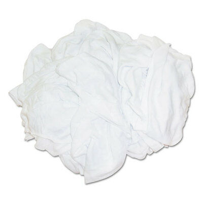 Hospital Specialty Bleached White T-Shirt Rags Multi-Fabric 25 lb Polybag