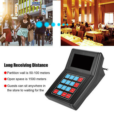 Restaurant Paging Pager Queuing Equipment Calling Transmitter+20x Coaster Pagers