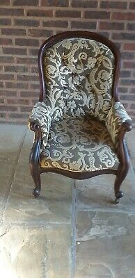 Victorian Mahogany Framed Gentleman's Upholstered Armchair