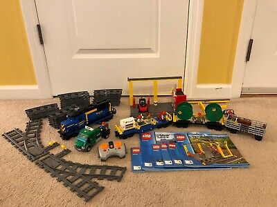 Lego Genuine City Cargo Freight Train Green Lorry Truck Town from Set 60052 NEW