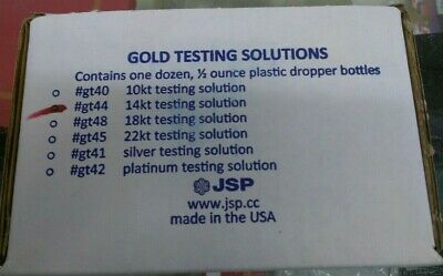 12 New Fresh Jsp 14K Gold Acid Testing Solution Squeeze Bottle Test Tester
