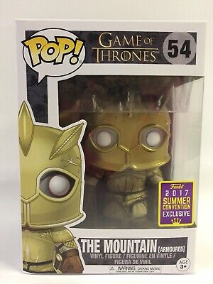 Funko Pop Game of Thrones The Mountain Armoured #54 (Conv. Exclu.) New, Worn Box