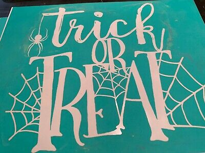 Chalk Couture Transfer, Trick or Treat  VERY RARE VHTF