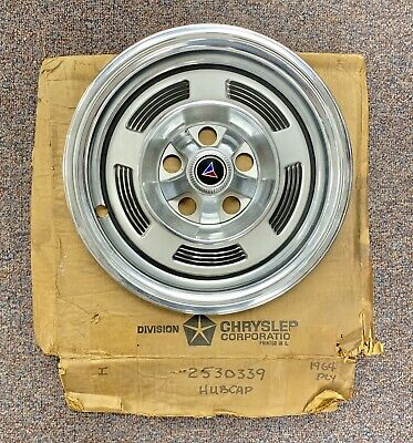 1964 Plymouth Barracuda Wheel Cover Hubcap, 2530339 NEW OLD STOCK, GORGEOUS!