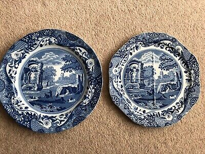 """*2 X Copeland Spode's Italian Plates 10.5"""" Dinner Plate 9.5"""" 4 Sectioned (Chip)*"""