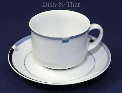 Mikasa L5544  Fine China Flat Cup and Saucer Complete Set
