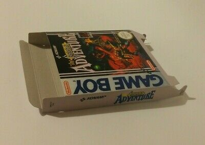 The Castlevania Adventure  - box only - GB/ Game Boy - thick cardboard.