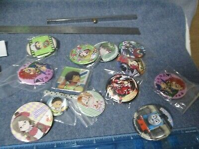Various Japan Anime Pins Lot - JoJo's Bizarre Adventure Thomas Train & Others