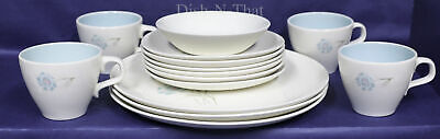 TAYLOR, SMITH & T (TS&T) china BOUTONNIEER pattern~ SET OF 14~vintage dinnerware