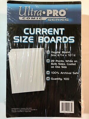 """Ultra Pro Comic Series Current Size Boards 1 Pack 6.75""""x10"""" 22pt (100 Boards)"""
