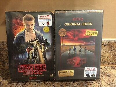 Stranger Things Season 1 & 2 Blu Ray Dvd Target Exclusive Retro 80S Vhs Packing
