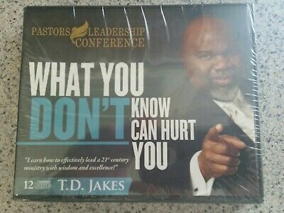 WHAT YOU DON'T KNOW CAN HURT YOU T.D. Jakes 12 CDs Pastors Leadership Conference