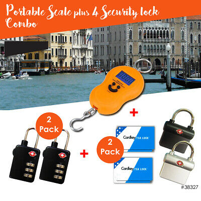 Travel Luggage Scale & TSA Approved Locks Accessories - 5 Pack Combo