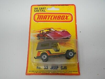 Matchbox SuperFast Jeep CJ6 Yellow No. 53
