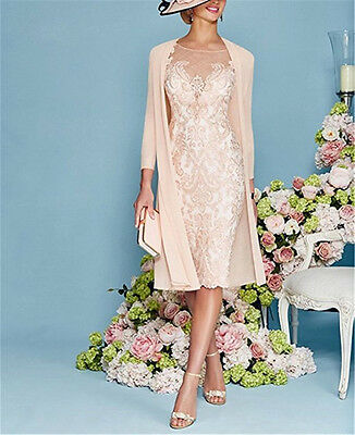 Formal Mother Of The Bride Outfits Jacket Only Knee Length chiffon 3/4 Sleeve