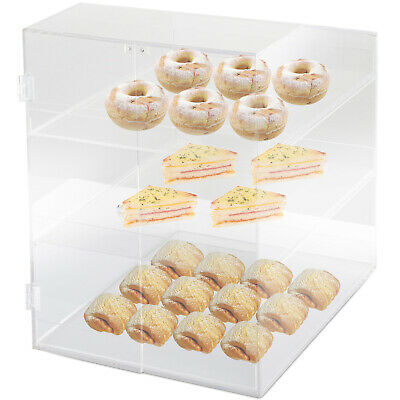 Acrylic Display Cabinet Glued L31 x W36 x H41.5 CM Pastry Sloping top Bakery