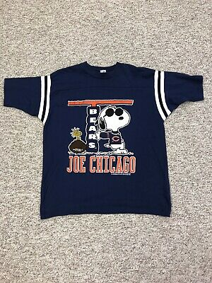9cce0598 VTG SNOOPY JOE Cool Chicago Bears T-Shirt Schulz 1958 L Peanuts Charlie  Brown