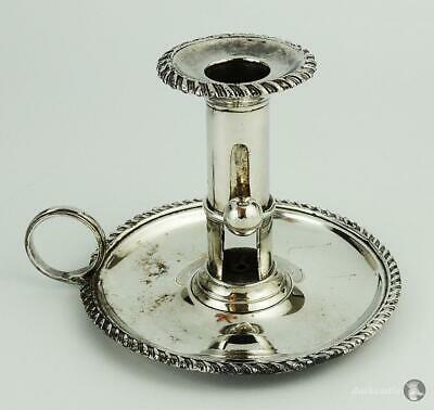 GEORGE III OLD SHEFFIELD PLATE EJECTOR CHAMBERSTICK c1800