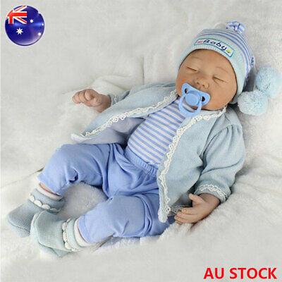 Reborn Dolls Newborn Baby Doll 22'' Vinyl Silicone Baby Boy Doll Birthday Gifts