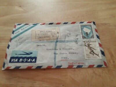 ARGENTINA TO UK BSAA COVER STAMPS POST FREE WORLDWIDE £9.99 bx4