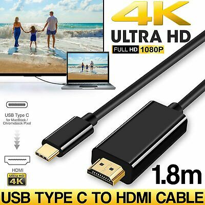 USB-C to HDMI Cable USB 3.1 Type C Male to HDMI Male 4K Cable Macbook Chromebook