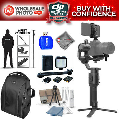 "DJI Ronin-SC 3-Axis Gimbal Stabilizer Recording Bundle with 72"" Monopod and More"