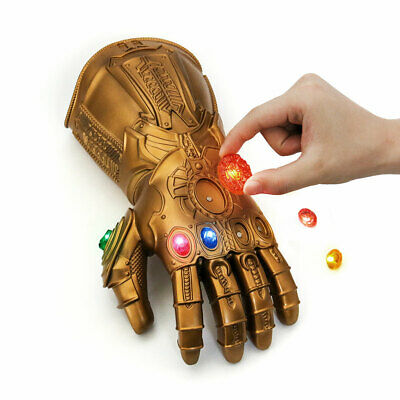 Thanos Infinity Gauntlet Gloves Legends LED Avengers Cosplay Stone Removable