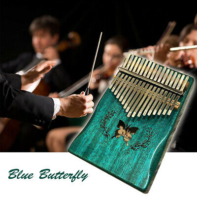 17Keys Funny Thumb Piano Musical Instrument Gift Wood Acoustic Butterfly Kalimba