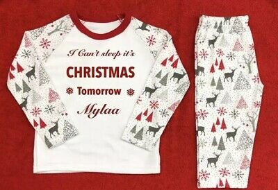 Christmas Pyjamas any age up to 7years any name  Personalised