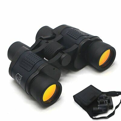 60x60 Compact Foldable Binoculars Roof Prism Pocket With Carry Case Camping