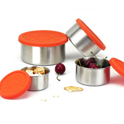 Stainless Steel Fresh Bowl Lunch Snack Food Storage Containers with Lid POUR