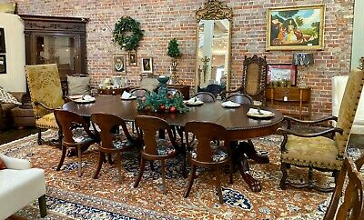 "American Classical Empire Dining Table - 10'6"" Long"