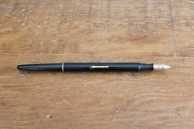Vintage Black Desk Fountain Pen w/ Medium Iridium Tip Unknown Maker