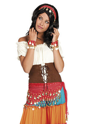Red Gypsy Coin Scarf Accessory Set