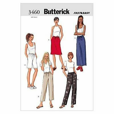 Butterick Sewing Patterns 3460 Misses Skirts Shorts Pants Size 14-18