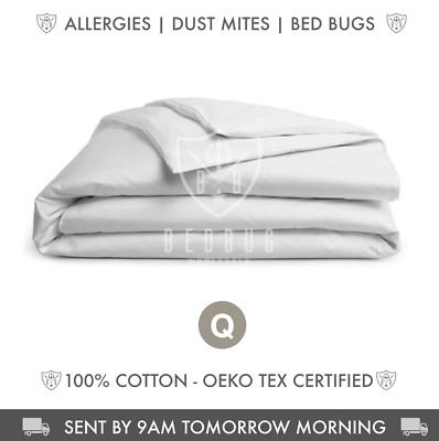 Dust Mite Allergy Quilt Cover & Protector | 100% Cotton | Queen Size